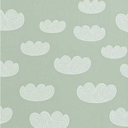 Ferm Living Cloud behang mint