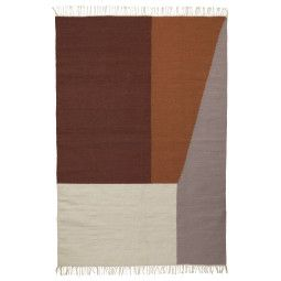 Ferm Living Kelim Borders vloerkleed large 140x200