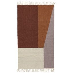 Ferm Living Kelim Borders vloerkleed small 140x80