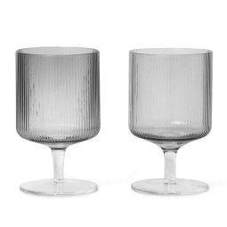 Ferm Living Ripple wijnglas set van 2