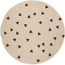 Ferm Living Black Triangles vloerkleed 100