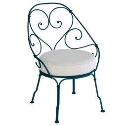 Fermob 1900 fauteuil met off-white zitkussen