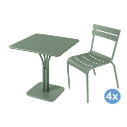 Fermob Luxembourg tuinset 71x71 tafel + 4 stoelen (chair)