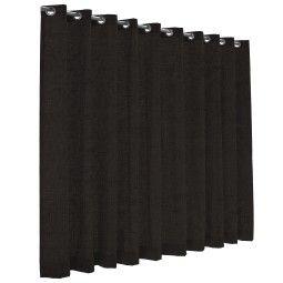 Flinders Dayblush gordijn - lichtdoorlatend - anthracite black