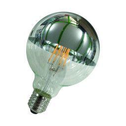 Flinders LED G95 E27 5W 2700K kopspiegel lichtbron Silver niet dimbaar