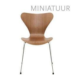 Fritz Hansen Series 7 Vlinderstoel miniatuur