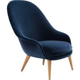 Gubi Bat high wood fauteuil