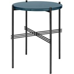 Gubi TS Table Glass bijzettafel zwart onderstel 40