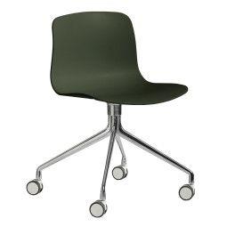 Hay About a Chair AAC14 stoel met gepolijst aluminium onderstel