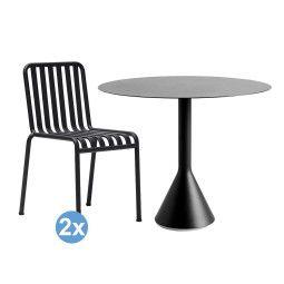 Hay Palissade tuinset Cone tuintafel 90 + 2 stoelen