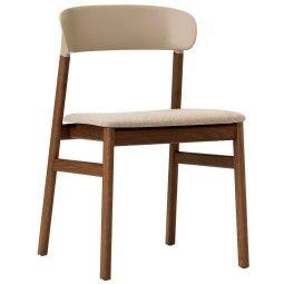Normann Copenhagen Herit Smoked Oak stoel gestoffeerd