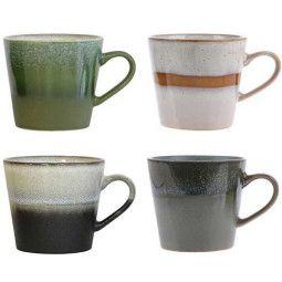 HKliving 70's cappuccino kopje set van 4