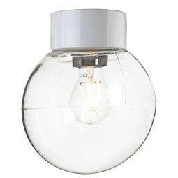 Ifö Electric Classic Globe plafond-en wandlamp porselein clear IP54 200mm