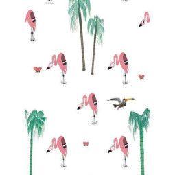 KEK Amsterdam Flamingo behang