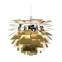 Louis Poulsen Artichoke 48 hanglamp gegraveerd messing