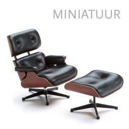 Vitra Lounge Chair & Ottoman miniatuur