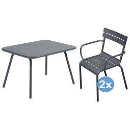 Fermob Luxembourg kinderset 76x56 kindertafel + 2 stoelen (armchair)