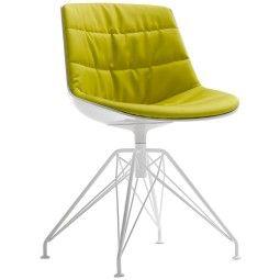 MDF Italia Flow Chair gestoffeerde stoel met LEM onderstel