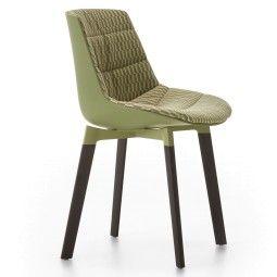 MDF Italia Flow Color Cross Oak gestoffeerde stoel