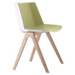 MDF Italia Aïku Wood stoel gebleekt eiken onderstel