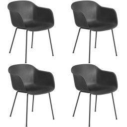 Muuto Set aanbieding Fiber Tube stoel (4x)