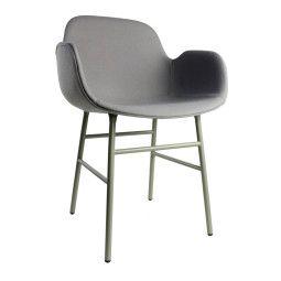 Normann Copenhagen Form Armchair gestoffeerde stoel met stalen onderstel