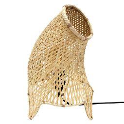 HKliving Organic Bamboo Wicker tafellamp M