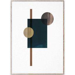 Paper Collective Shapes of Colour 04 poster incl. eiken lijst 50x70