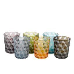 Pols Potten Outlet - Multicolour Blocks glas 6 stuks