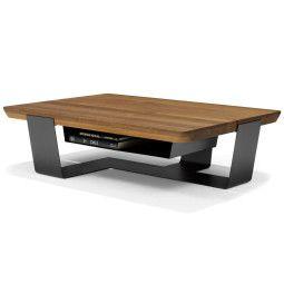 QLiv Crossings salontafel 120x120 met lectuurbak