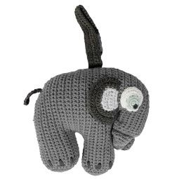 Sebra Fanto the Elephant olifant gehaakt muziekmobiel