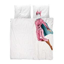 Snurk Superheld dekbedovertrek roze 200x220