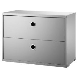 String Cabinet with two drawers 58 x 30 x 42 cm