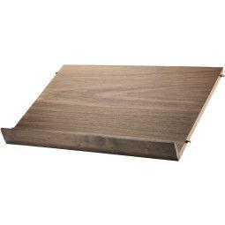 String Magazine Shelf Wood 58 x 30 cm