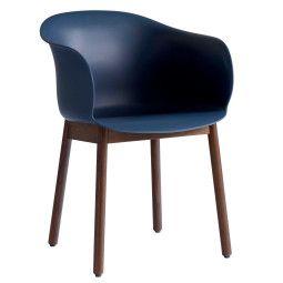 &tradition Elefy JH30 stoel met walnoten onderstel