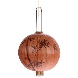 HKliving Traditional Lantern XL Terra hanglamp