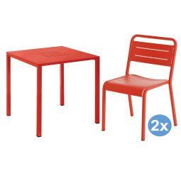 Emu Urban Square tuinset 80x80 tafel + 2 stoelen