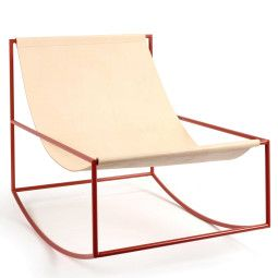Valerie Objects Rocking chair schommelstoel leer