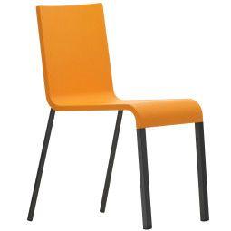 Vitra .03 stoel met poedercoating onderstel zwart niet stapelbaar
