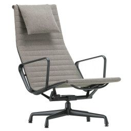 Vitra Aluminium Chair Black EA 124 grijs