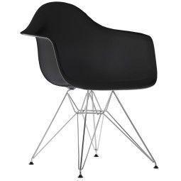 Vitra Eames DAR stoel met verchroomd onderstel