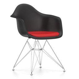 Vitra Eames DAR stoel met zitkussen
