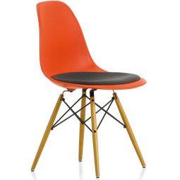 Vitra Eames DSW stoel met zitkussen