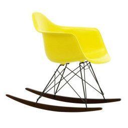 Vitra Eames RAR schommelstoel met donker onderstel, nieuwe kleuren