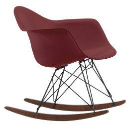 Vitra Eames RAR schommelstoel met donker onderstel