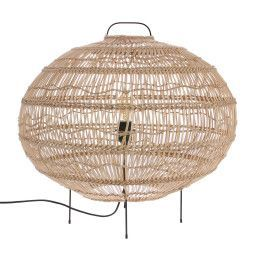 HKliving Wicker Oval vloerlamp
