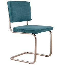 Zuiver Chair Ridge Brushed chrome Rib