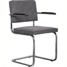 Zuiver Ridge Vintage stoel met armleuningen
