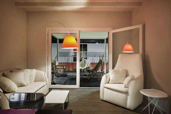 Luceplan Lady Costanza vloerlamp met aan-/uitschakelaar aluminium