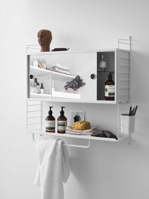String Kast badkamer small, grijs